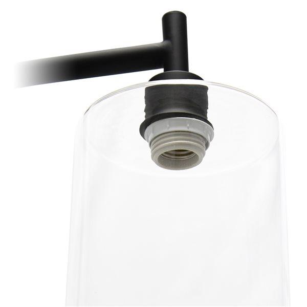 Simple Designs 67-in Black Standard Floor Lamp