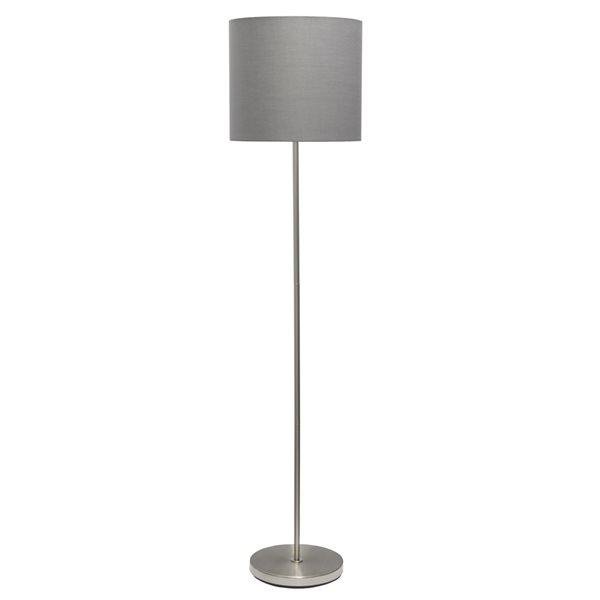 Simple Designs 58-in Grey Standard Floor Lamp