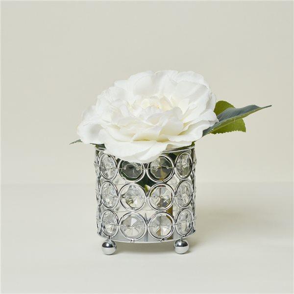Elegant Designs 3.25-in x 3.25-in Crystal Tea Light Candle Holder