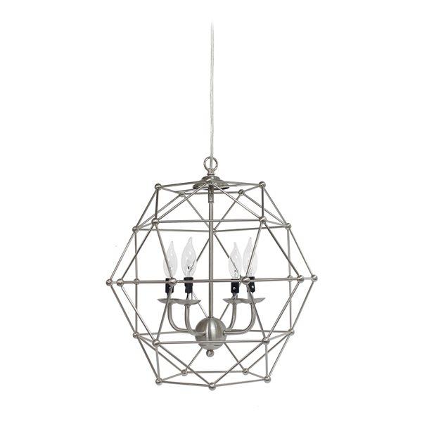 Elegant Designs Modern Metal Orb Incandescent Large Pendant Light