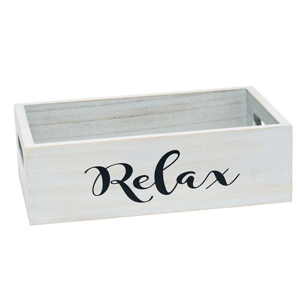 Elegant Designs Inspirational Grey Wash Finish on Wood Large Bath Accessory Set