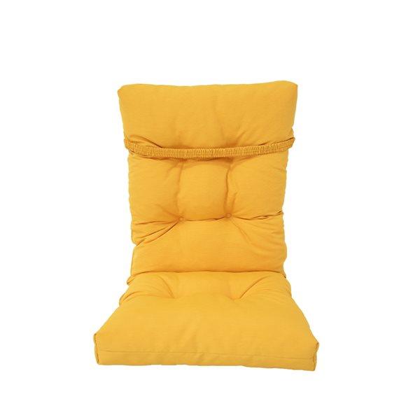 Coussin Bozanto Inc. pour chaise de patio à dossier haut, jaune