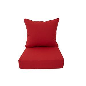 Coussins rouges pour chaise de patio profonde par Bozanto Inc. , 2 pièces
