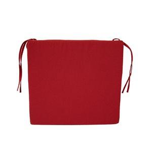 Coussin rouge Bozanto Inc. pour chaise de patio