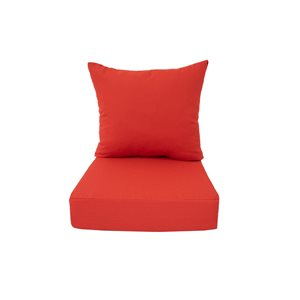 Bozanto Inc. 2-Piece Red Deep Seat Patio Chair Cushion
