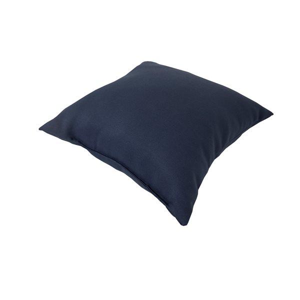 Bozanto Inc. Graphic Print Blue Square Throw Pillow