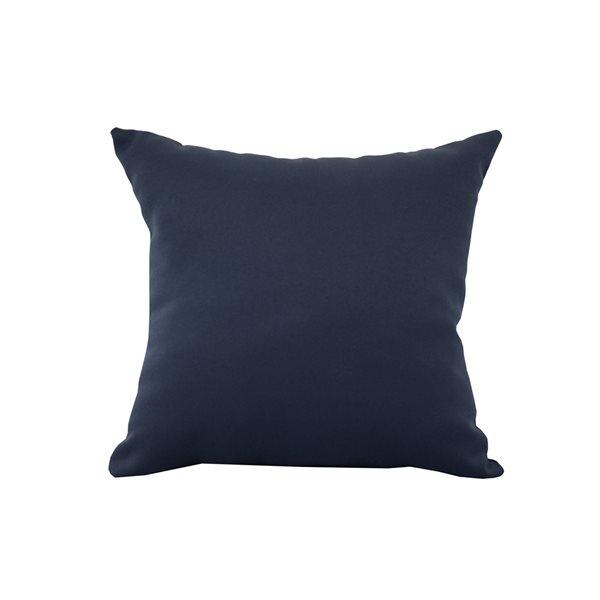 Coussin décoratif carré bleu de Bozanto Inc. à imprimé graphique