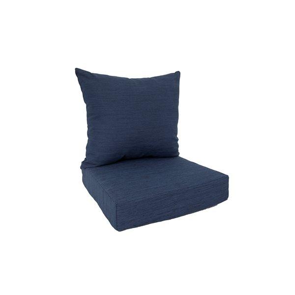 Coussin bleu pour chaise de patio profonde par Bozanto Inc. , 2 pièces