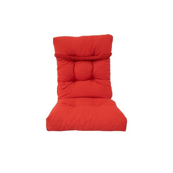 Coussin de chaise de patio rouge par Bozanto Inc., à dossier haut