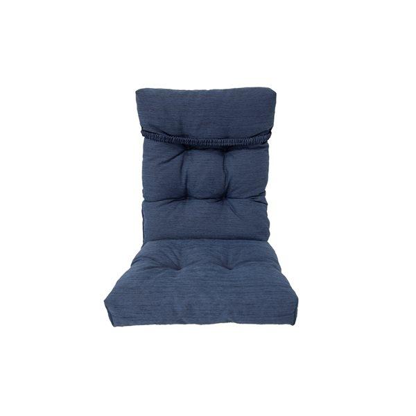 Coussin bleu pour chaise de patio à dossier haut par Bozanto Inc.