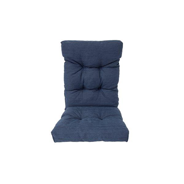 Bozanto Inc. High Back Patio Chair Cushion, in Blue