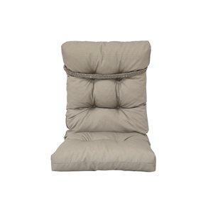 Coussin gris pour chaise de patio à dossier haut de Bozanto Inc.