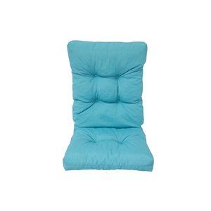Coussin de chaise de patio à dossier haut de Bozanto Inc. , bleu