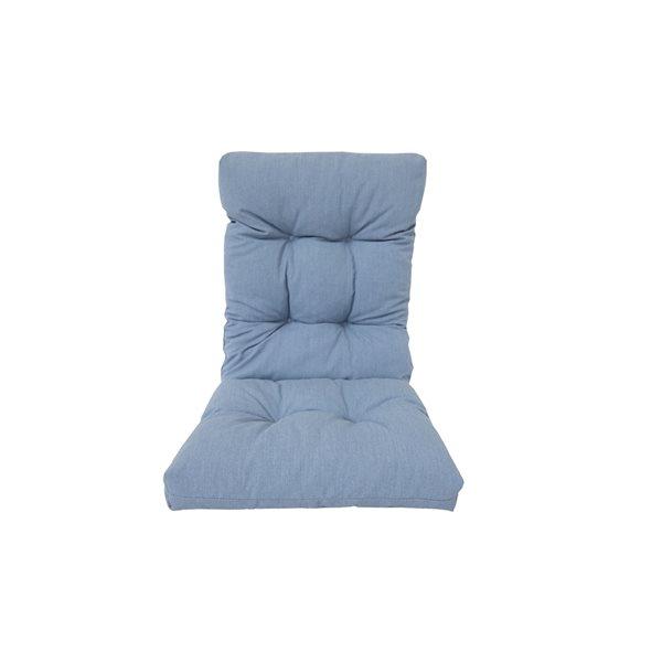 Coussin bleu pour chaise de patio à haut dossier de Bozanto Inc.