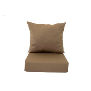 Coussin Bozanto Inc. pour chaise de patio à siège profond, marron