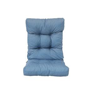 Coussin pour chaise de patio bleu à dossier haut de Bozanto Inc.