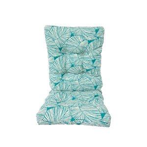 Coussin Bozanto Inc. bleu sarcelle pour chaise de patio à dossier haut