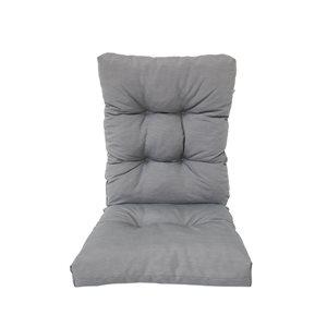 Coussin gris Bozanto Inc. pour chaise de patio à dossier haut