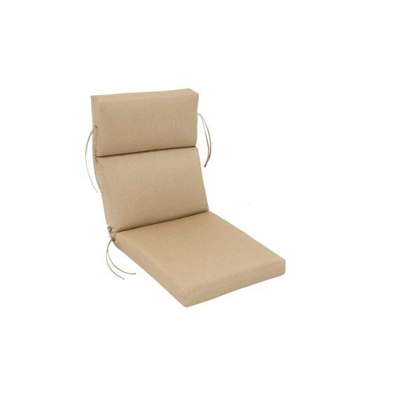 Coussin beige Bozanto Inc. pour chaise de patio à dossier haut