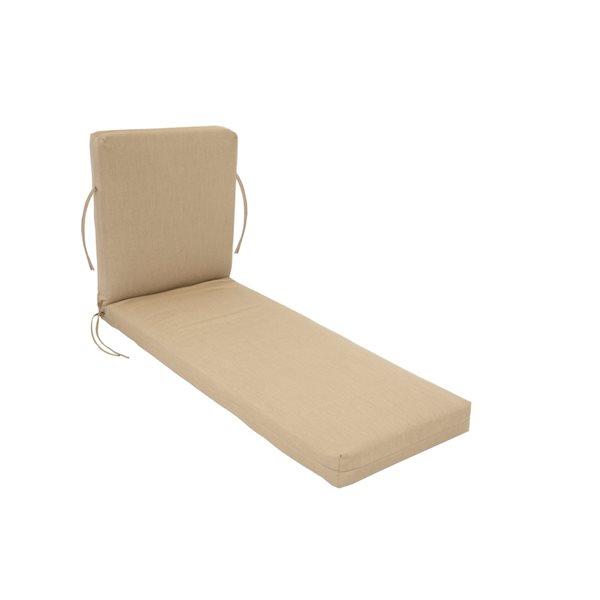 Coussin beige Bozanto Inc. de chaise longue de patio