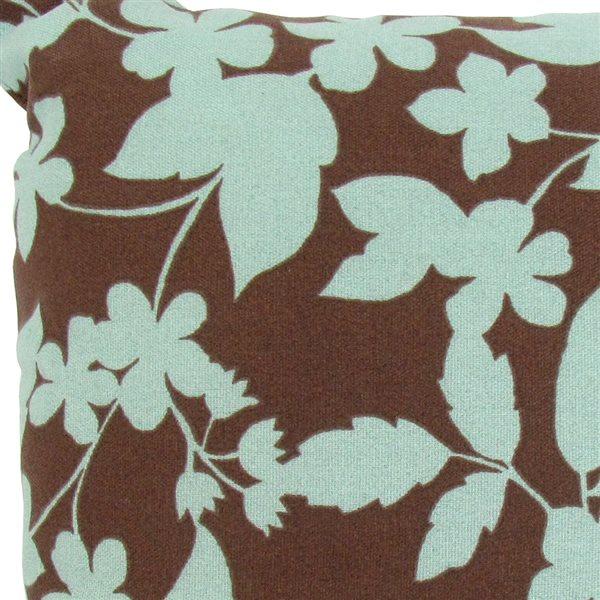 Coussin décoratif carré par Bozanto Inc. bleu floral