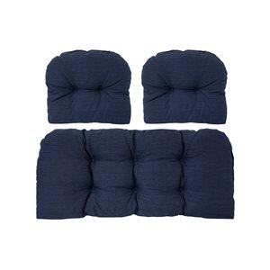 Essemble de coussins bleus pour causeuse de patio par Bozanto Inc., 3 pièces