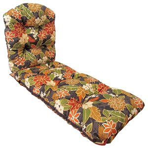 Bozanto Inc. Black Patio Chaise Lounge Chair Cushion