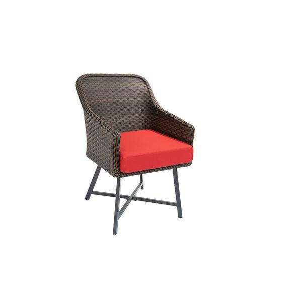 Coussin d'assise Bozanto Inc. pour chaise de patio, rouge