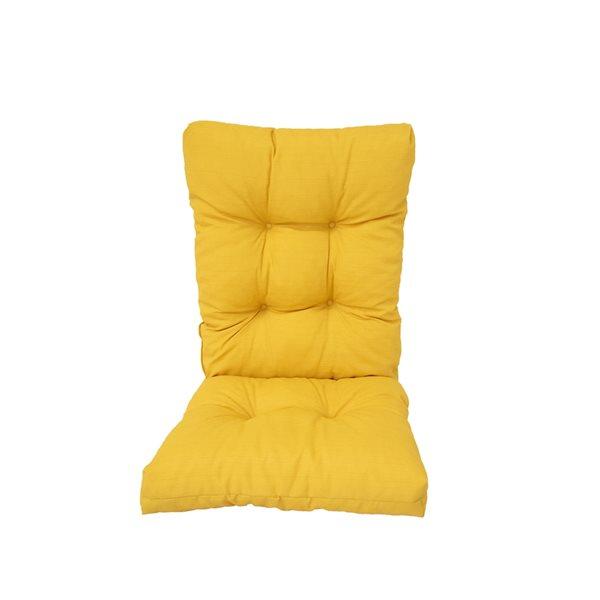 Coussin jaune Bozanto Inc. pour chaise de patio à dossier haut