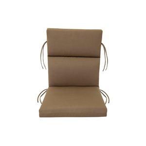 Coussin Bozanto Inc. marron pour chaise de patio à dossier haut