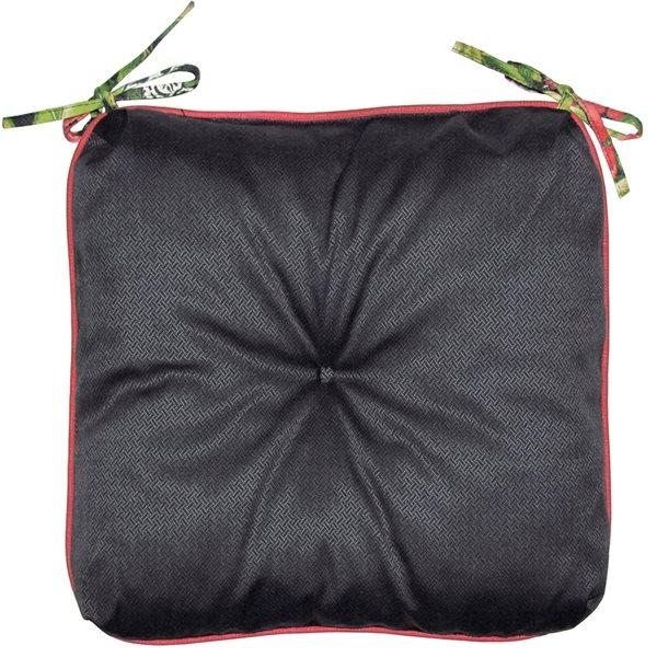 Coussin noir Bozanto Inc. pour chaise de patio
