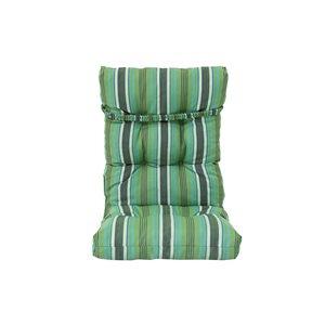 Coussin vert pour chaise de patio à dossier haut par Bozanto Inc.