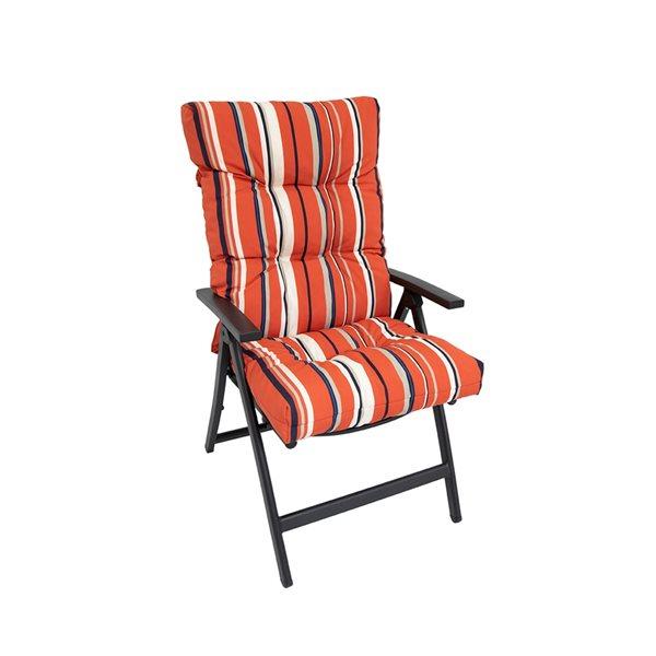 Bozanto Inc. Red High Back Patio Chair Cushion