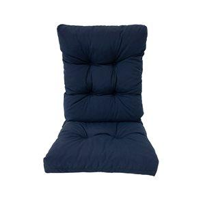 Coussin bleu marine Bozanto Inc. pour chaise de patio à dossier haut
