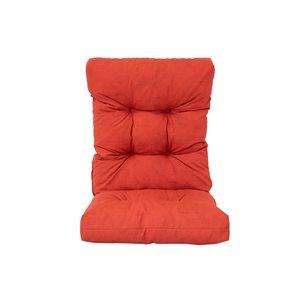 Coussin de chaise de patio rouge à dossier haut de Bozanto Inc.