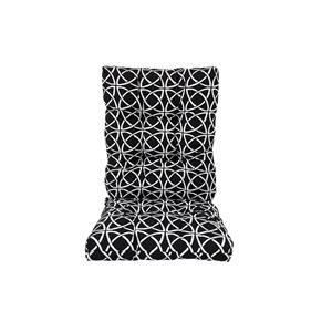 Coussin noir Bozanto Inc. pour chaise de patio à dossier haut