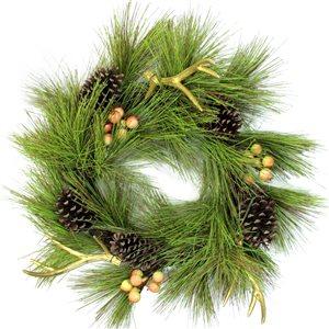 Northlight 30-in Green Artificial Summer Wreath