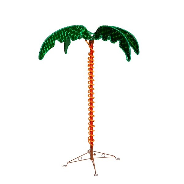 Vickerman 54-in Green and Yellow Holographic LED Artificial Palm Tree