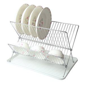 MegaChef 10.50-in W x 16.75-in L x 13-in H Metal Dish Rack
