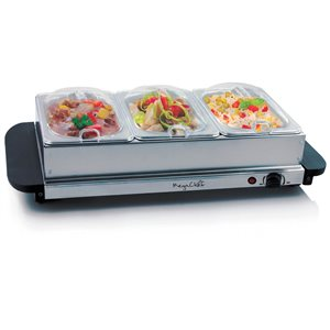 Megachef 3-Station Residential Buffet Server/Warming Tray Combination