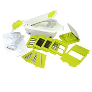 MegaChef 8-in-1 Multi-Use Slicer Dicer and Chopper - Interchangeable Blades Included