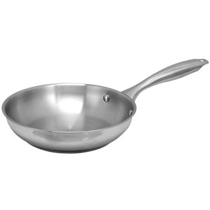 Oster Cuisine 1-piece Saunders Frying Pan 8-in Stainless Steel Skillet