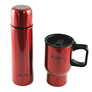 Mr Coffee Javelin 2-Piece Double Wall Thermos