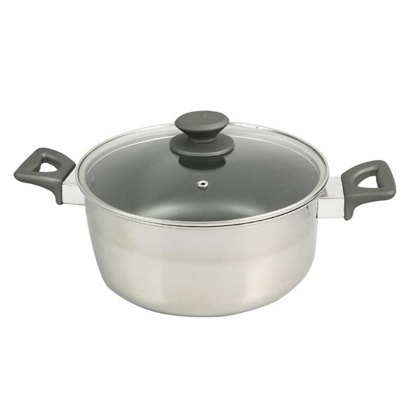 Oster Cuisine 2-piece Rivendell Dutch Oven 10.25-in Stainless Steel Cooking Pan Lids Included