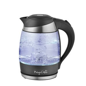 MegaChef Silver 7.60-Cup Cordless Electric Kettle
