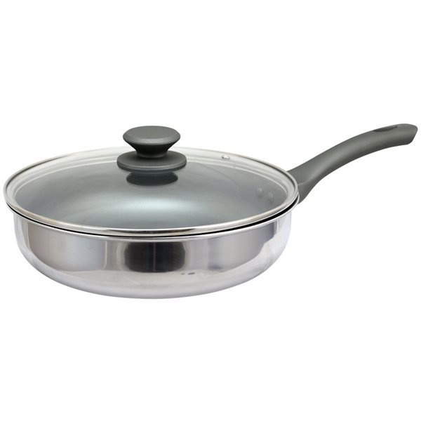 Oster Cuisine 2-piece Rivendell Saute Pan 11-in Stainless Steel Skillet Lids Included