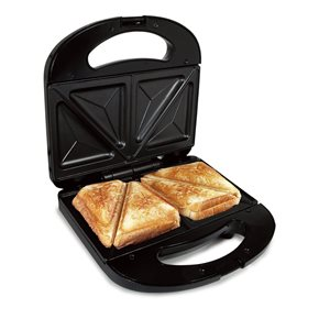 Better Chef Sandwich Grill 3.7-in L X 3.7-in W Non-stick Residential - Black