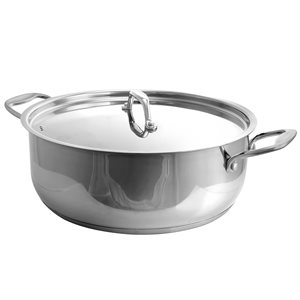 Better Chef 1-piece 8 Quart Low Pot 13.25-in Stainless Steel Cooking Pan Lid Included