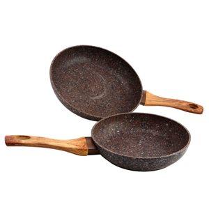 Gibson Home Orestano 2 Piece Frying Pan Set in Granite
