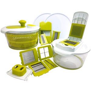 MegaChef 10-in-1 Multi-Use Salad Spinning Slicer Dicer and Chopper